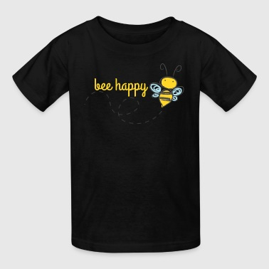 Bee Happy Bumble Bee - Kids' T-Shirt