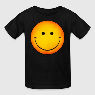 Smiling Happy Face Emoji - Kids' T-Shirt