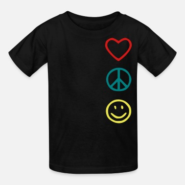 Love Peace And Happiness Love Peace Happiness - Kids' T-Shirt