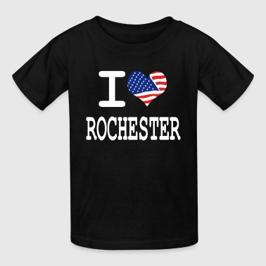Rochester i love rochester - white - Kids' T-Shirt