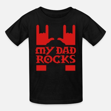 Hard Rock Dad my dad rocks - Kids' T-Shirt