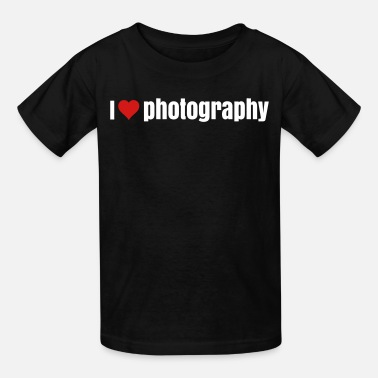 I Love Photography i love photography  - Kids' T-Shirt
