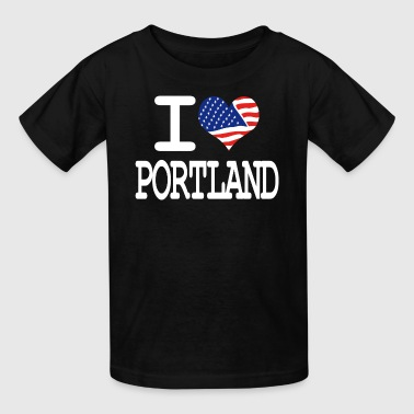 i love portland - white - Kids' T-Shirt