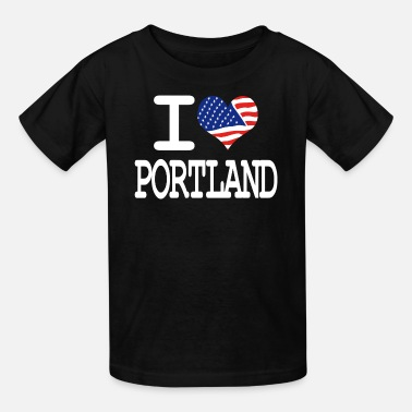 I Heart Portland i love portland - white - Kids' T-Shirt