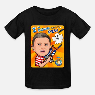 Pew Pew FUNnel Vision Down With The Pew - Kids' T-Shirt