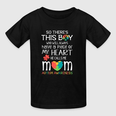This boy piece of my heart - Autism Awareness - Kids' T-Shirt