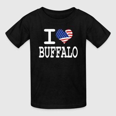 I Love Buffalo i love buffalo - white - Kids' T-Shirt