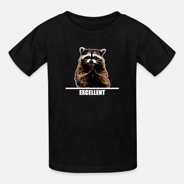 Dark Evil Evil Raccoon for dark clothes - Kids' T-Shirt