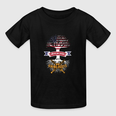Viking Metal Odin American Crown Viking Roots Tshirt Present Odin - Kids' T-Shirt