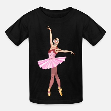 Swan Lake Ballet Dancer Ballerina Shoes T-shirt - Kids' T-Shirt