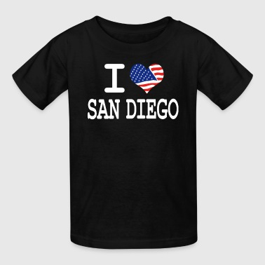 San Diego Kids i love san diego - white - Kids' T-Shirt
