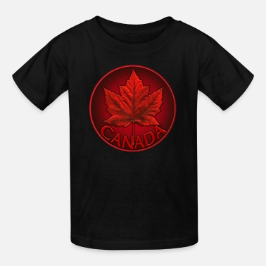 Canadian Girl Canada Souvenirs Gifts & Canadian Maple Leaf Apparel - Kids' T-Shirt