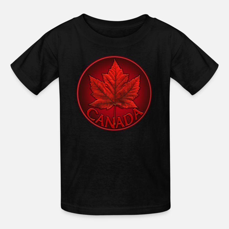 Canada T-Shirts - Canada Souvenirs Gifts & Canadian Maple Leaf Apparel - Kids' T-Shirt black