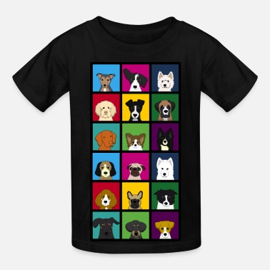 Funny 18 dogs - Kids' T-Shirt