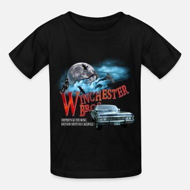Winchesters Winchester Bros Driver picks the music shotgun shu - Kids' T-Shirt