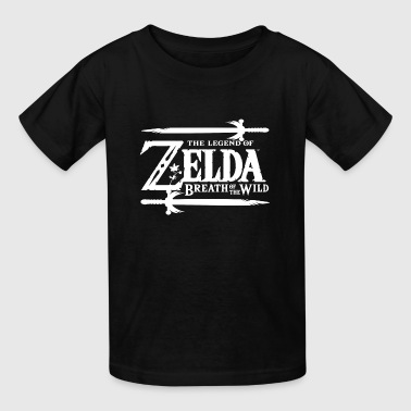 Nintendo Zelda Breath of the Wild Official Game Lo - Kids' T-Shirt