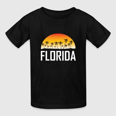 Florida Sunset And Palm Trees Beach Vacation - Kids' T-Shirt