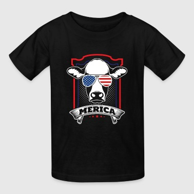 American Patriot Cow - Kids' T-Shirt