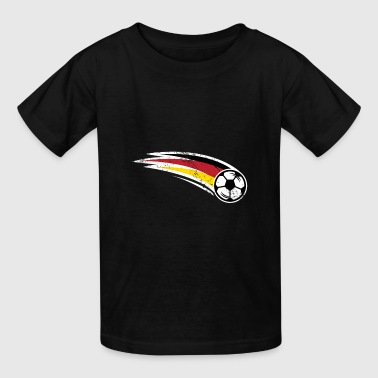 Soccer German Flag with Ball - Kids' T-Shirt