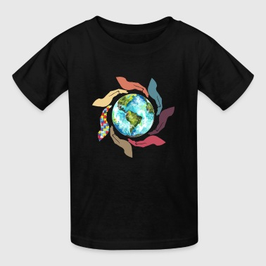 Autism Hand Autism Awareness Hand - Kids' T-Shirt