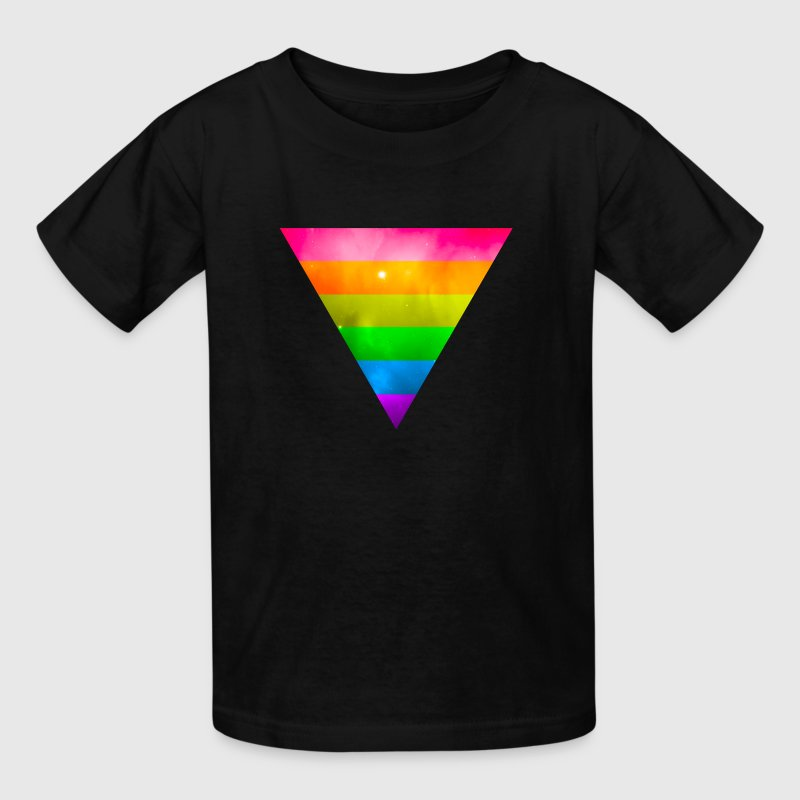 LGBT Pride Triangle Galaxy - Kids' T-Shirt