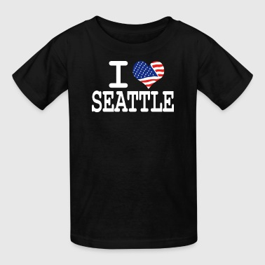 I Love Seattle i love seattle - white - Kids' T-Shirt