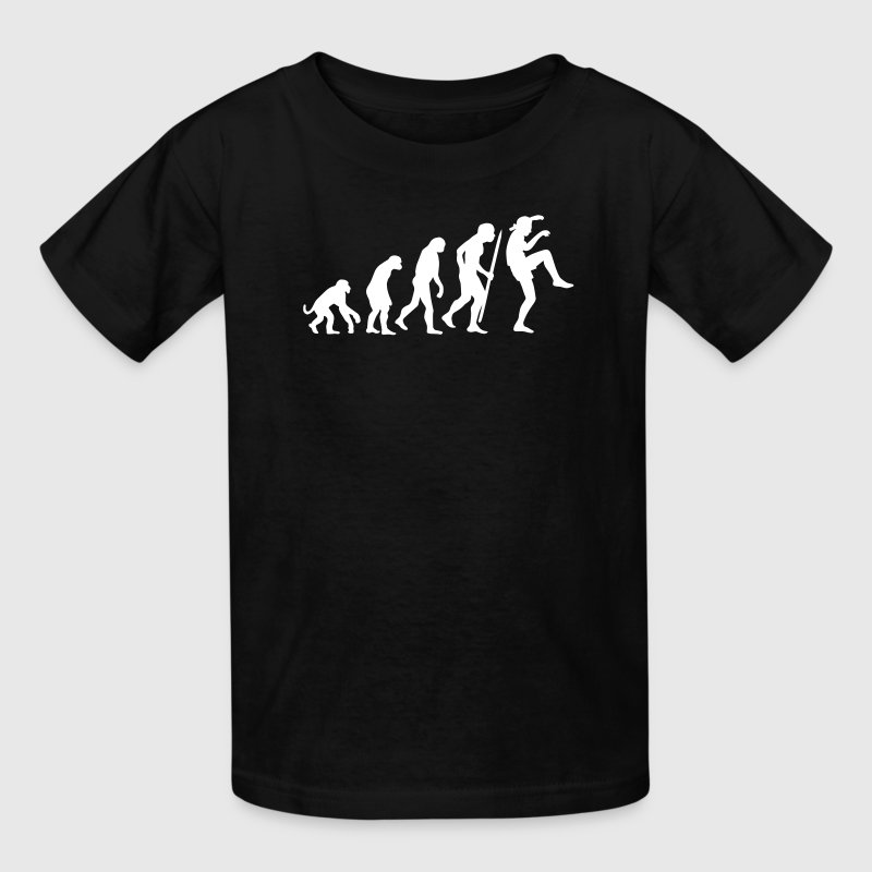 Evolution of Karate Kid Crane technique - Kids' T-Shirt