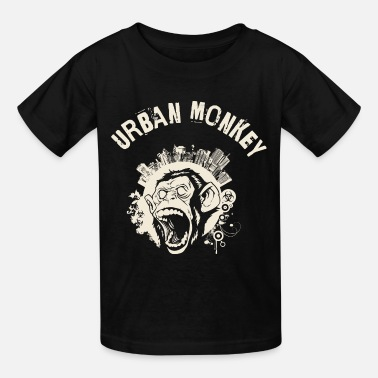 Cool Urban Monkey (positive), DD, yellow - Kids' T-Shirt