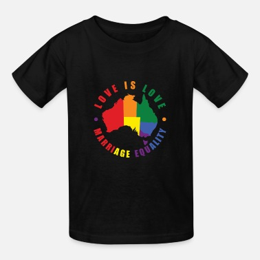 Gay Rights Love is Love Australia - Kids' T-Shirt