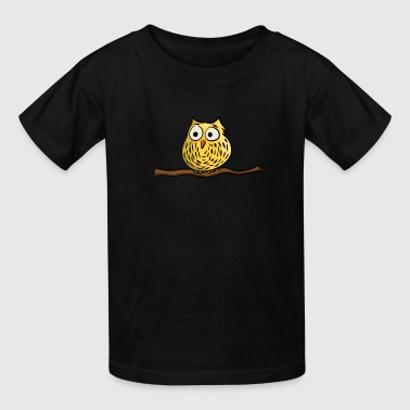 Uil Owl on branch - Kids' T-Shirt
