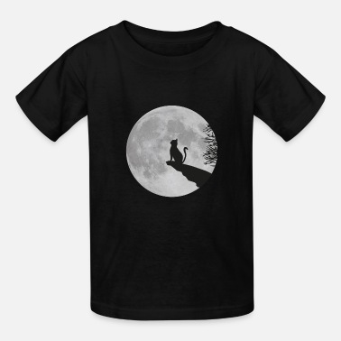 Full Moon full moon cat werewolf kitten kitty - Kids' T-Shirt