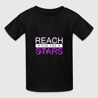 Reach for the Stars cute quote gift idea christmas - Kids' T-Shirt