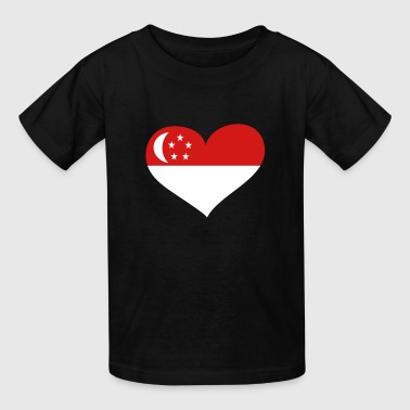 Singapore Heart; Love Singapore - Kids' T-Shirt