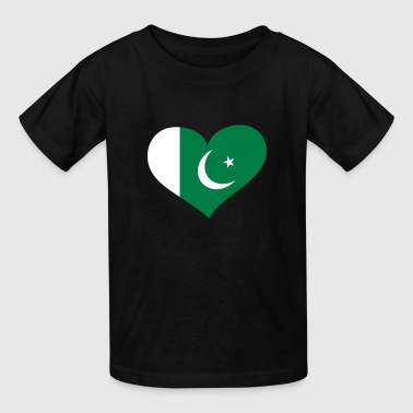 Pakistan Heart; Love Pakistan - Kids' T-Shirt