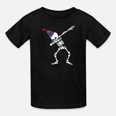 Birthday Party Dab skeleton dabbing birthday party - Kids' T-Shirt