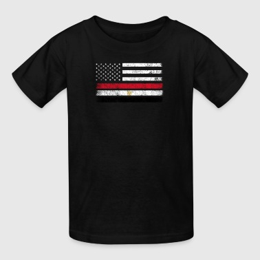 Half Egyptian Half American Roots Egyptian American Flag - USA Egypt Shirt - Kids' T-Shirt