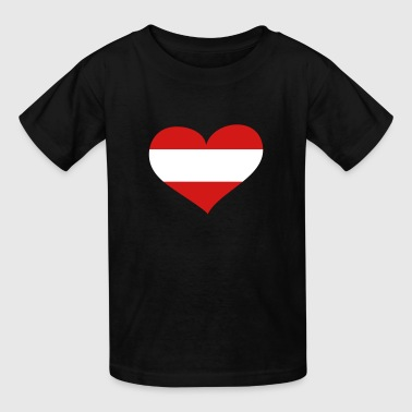 Austria Heart; Love Austria - Kids' T-Shirt