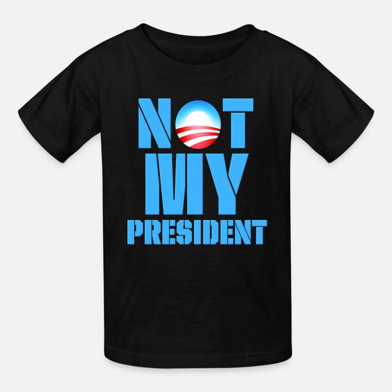 2012 T-Shirts - Anti Obama Not My President - Kids' T-Shirt black