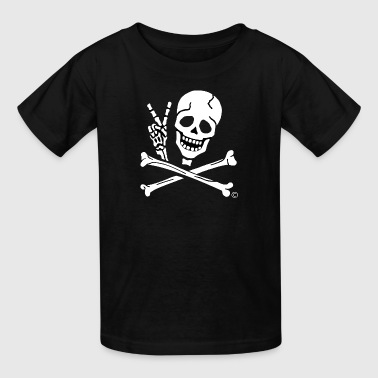 Kids Skeleton Kids Peace Sign Pirate Tee - Kids' T-Shirt
