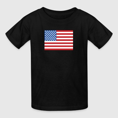 AMERICA FLAG Amercian USA Flag - Kids' T-Shirt