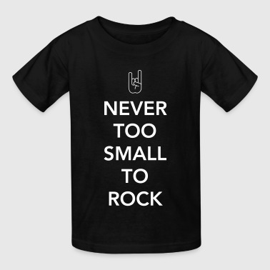 Funny Rock Baby Hand Never too small to rock - Kids' T-Shirt