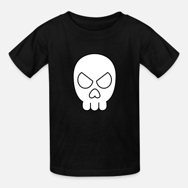 Jimbo Jimbo Jones' Skull Shirt (Black & White) - Kids' T-Shirt