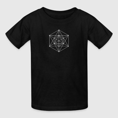 Impossible Rectangle Sacred geometry / Minimal Hipster Line Art - Kids' T-Shirt