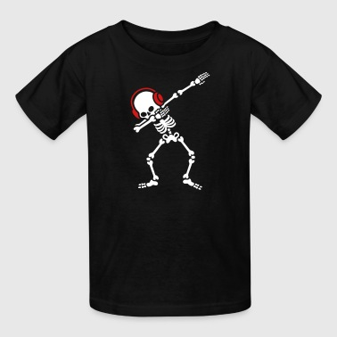 Skelton Dab Dabben Headphones Music - Kids' T-Shirt