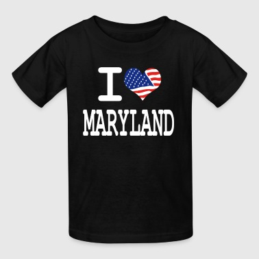I Love Maryland i love maryland - white - Kids' T-Shirt