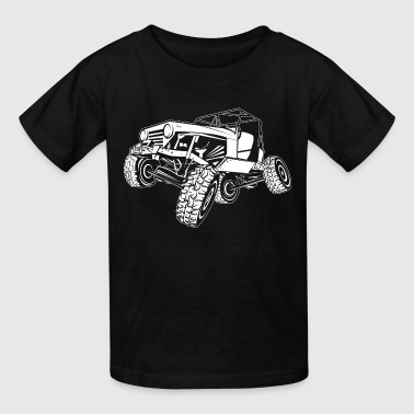 Off-Road White Monster Jeep - Kids' T-Shirt