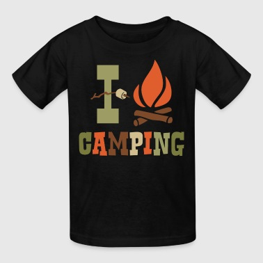 I Love Camping - Kids' T-Shirt