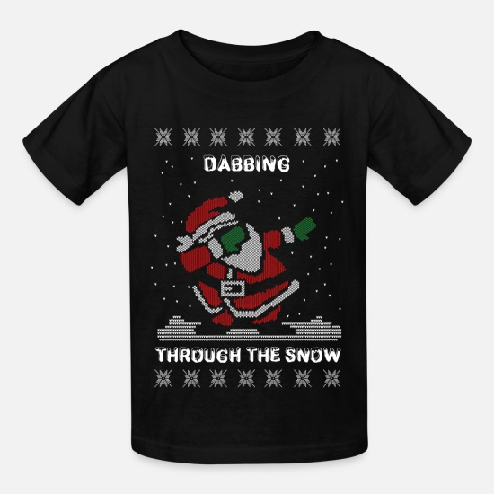 a9d9d1cce Christmas T-Shirts - Dab Santa Dabbing Ugly Christmas Sweater - Kids' T-