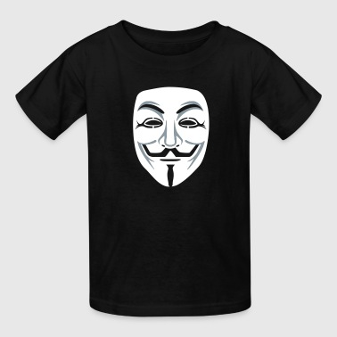 Anonymous/Guy Fawkes mask 2clr - Kids' T-Shirt