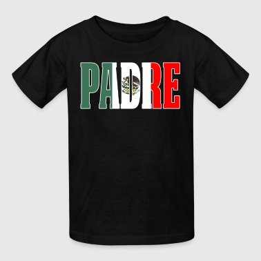 Cool Mexican Shirt For Mexican Flag T Shirt for Mexican Pride Outline - Kids' T-Shirt